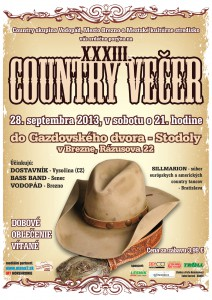 Plagát Country večer 2013