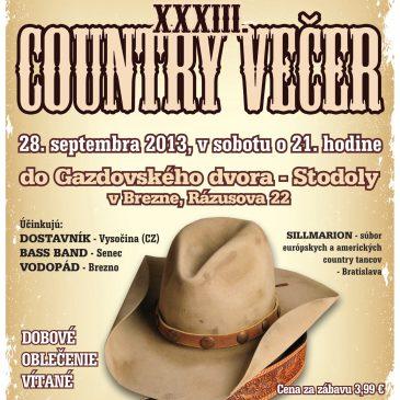 Pozvánka na Country večer v Brezne
