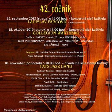 Pozvánka na koncert Collegium Wartberg v Humennom