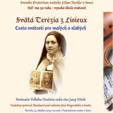 Pozvánka na Oratórium svätého Filipa Neriho