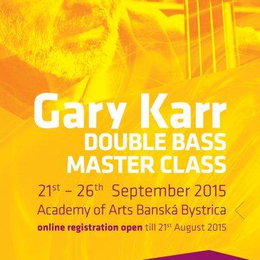Gary Karr master class na Slovensku