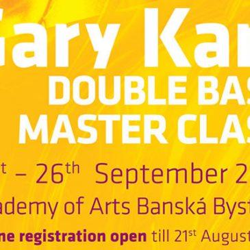 Registrácia na Gary Karr Master Class spustená
