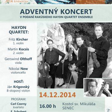 Haydn quartet ensemble – adventné koncerty
