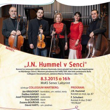 """Invitation to the concert """"J. N. Hummel v Senci"""""""