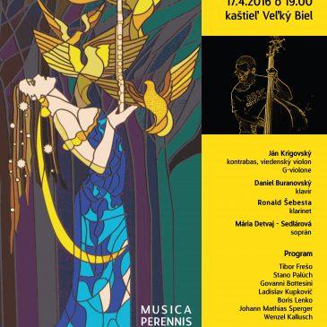 """Musica Perennis Iuvenutis 2016 – """"Kontrabas na Slovensku od 18.str"""" / J.Krigovský + D.Buranovský"""