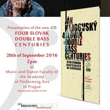 Ján Krigovský CD prezentácia/ recitál BASS EUROPE 2016