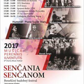 """Pozvánka na podujatie hudobno benefičný maratón """"Senčania Senčanom 2017"""""""